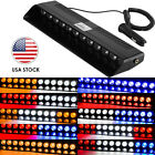 12 LED Strobe Light Bar Emergency Warning Flashing Dash Deck Hazard Visor Lamp $15.03 USD on eBay