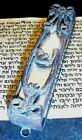 "4 1/2"" Classical Wought Iron, 3 Mirrors MEZUZAH w replica SCROLL GOING OUT of"