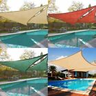 UK New  Shade Sail Water Resistant Sun Canopy Patio Awning Garden 96%UV Block