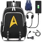 Star Trek Backpack with USB Charging Port and Lock Laptop School Bags Bookbag on eBay