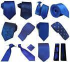 Royal Blue Collection Woven Paisley Jacquard Silk Knitted Satin Tie Wedding lot