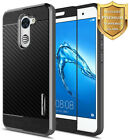 For Huawei Ascend XT2 H1711 Shockproof Hybrid Case Cover+ Glass Screen Protector