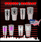 NFL OAKLAND RAIDERS Decal for YETI CUP Tumbler  20 AND 30 Ozark Trail FOOTBALL