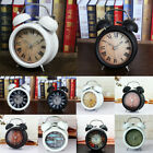 Old Fashioned Analog Twin Bell Non-ticking Alarm Clock Tabletop Ornaments