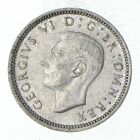 Roughly Size of a Dime - 1942 Great Britain 6 Pence - World Silver Coin *048