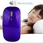 Silent 2.4GHz Optical USB 1600 DPI 4 Buttons Rechargeable Wireless Mouse Mice