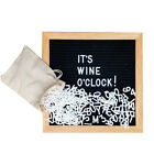 Changeable Felt Letter Board for Home Restaurant Message Sign with 340 Letters