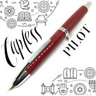 Pilot Capless Stainless Edition Click Action Red Fountain Pen