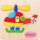 Kids Wooden AnimalsTraffic Puzzle Educational Toys Cartoon Picture for Children