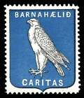 Iceland Cristmas Seal - CARITAS 1911 Issues with Falcon F/VF, MNH