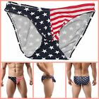 American Flag Boxers XS Small Medium Large Thong Briefs Mens Flag Underwear