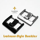 New BUCKLES For Step Ladder Silicone Rubber Watch Strap 20-22-24m Silver & Black