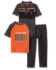 U.S. Polo Assn. Boys' Polo Shirt, T-Shirt and Pant Set