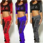 Harley Quinn Ladies T-shirt Top Joggers Trousers Sport Pants Jogging Tracksuit