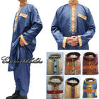 Men Saudi Thobe Jubba Dishdasha Thawb Thoub Muslim Islamic Abaya Kaftan Clothing