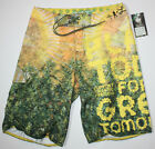 Lifted Research Gropu L-R-G yellow green size 28 mens boardshorts swim trunk new