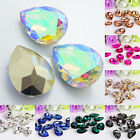 QA_ Wholesale 10 Pcs Teardrop Resin Rhinestones Beads 18 X 25mm DIY Pendant Ch