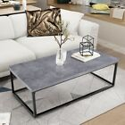 Flavour of the month Coffee Table Living Room Side Sofa Table Wooden Top Metal Legs Furniture