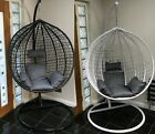 Cocoon Hanging Egg Chair With Cushion Rattan Wicker Style Double Single