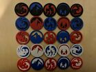 Legend of the Five Rings 5 Reversible Elemental Ring Tokens  - L5R LCG