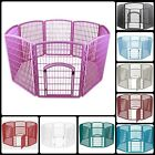 Dog Pet Playpen Indoor Outdoor Puppy Exercise Cage 34 Inch With Door Crate Fence