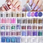 10ml Nail Art Glitter Powder Dust Blue Pink Purple Nails Sequins Flakes