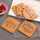 E55A Cartoon Hollow Wooden Table Coasters Cup Pot Mat Placemat Kitchen Tool