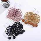 Boho Tassel Dream Catcher Hollow Circle Earrings Drop Dangle Women Charm Jewelry