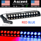 12 LED Emergency Warning Strobe Light Bar Flashing Dash Car Visor RED BLUE Super
