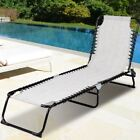 Foldable Patio Chaise Lounge Chair Bed Outdoor Camping Recliner Beach Pool Yard