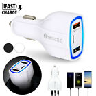 Qualcomm QC3.0 Certified Quick Charge Dual 2 USB Port Type C Fast Car Charger
