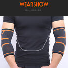 2x Sport Compression Elbow Sleeve Elastic Support Arm Wraps Gym Guard Protect US on eBay