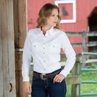 Wrangler Young Rider Snap Blouse in White