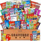 CraveBox - Deluxe Care Package Snack Box - Gift Basket Variety Pack with Bars, -
