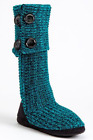 Candies Boots Sweater Knit Boots Slippers Teal Large Size: 9 - 10 - 11