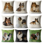 Pet Dog Linen Cushion Cover Square Throw Pillow Case Sofa Bed Home Decor Sanwood