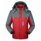 Winter Womens & Mens Outdoor Ski Jacket Warm Hiking Waterproof Coat Fur Lined