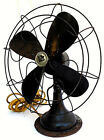 """RARE VTG ANTIQUE 1920s ROBINS AND MYERS ELECTRIC ROTATING 19"""" TABLE FAN WORKING"""