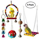 Parrot Bird Climb Chew Toy String Hanging Cockatiel Parakeet Climb Chewing Cage