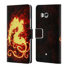 OFFICIAL CHRISTOS KARAPANOS FIRE CREATURES LEATHER BOOK CASE FOR HTC PHONES 1