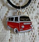 ENAMELLED  ~  PLATED ~  COMBIE_VAN  ~  NECKLACE  -- (GREAT_CHRISTMAS_GIFT)