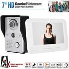 """7"""" Wired Color Video Doorbell Intercom IR Night Vision Security Camera W/Monitor"""