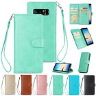 For Samsung Note 8 Full Protective Cover Phone Case with 9 Card Slots Bracket