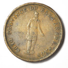 1837 1/2P Lower Canada Half Penny Token Sou Bank Tn8 Banque Du Peuple