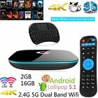 Q BOX 2GB DDR3 16GB Load 16.0 Quad-Core 4K OTT Smart TV BOX + Keyborad LOT KJ