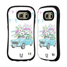 HEAD CASE DESIGNS FLORAL VINTAGE CARS HYBRID CASE FOR SAMSUNG PHONES