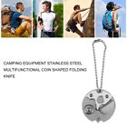 Camping Equipment Stainless Steel Multifunctional Coin Shaped Folding Knife LA