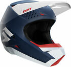 Shift Racing Adult Matte Navy Blue/White White Label Dirt Bike Helmet ATV MX 18