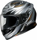 Shoei Adult Black/Silver RF-1200 Incision Full Face Motorcycle Helmet Snell DOT