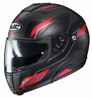 HJC Red/Black CL-Max 3 Flow Modular Flip-Up Motorcycle Helmet DOT